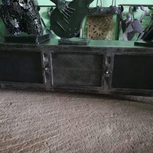 Meuble TV en métal, modèle CARBONE