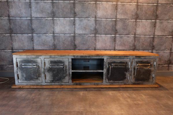 Meuble tv en métal et bois, modèle REVOLUTION