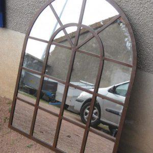 Miroir en acier modèle L'ORANGERIE