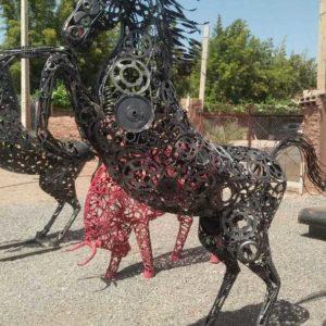 Sculpture métal CHEVAL