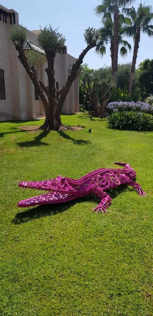 Sculpture modèle Crocodile