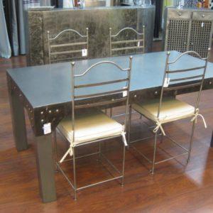 Table de salle à manger en métal modèle FACTORY